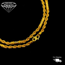 HOLLOW FANCY ROPE CHAIN [9.9G - BB009583]