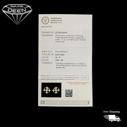 DIAMOND EARRINGS With Certificate   0.37CT   1.71GM   PGD00155