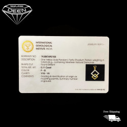 DIAMOND LOCKET    0.11CTS   With Certificate  [Wt:0.66 - PGD00043]