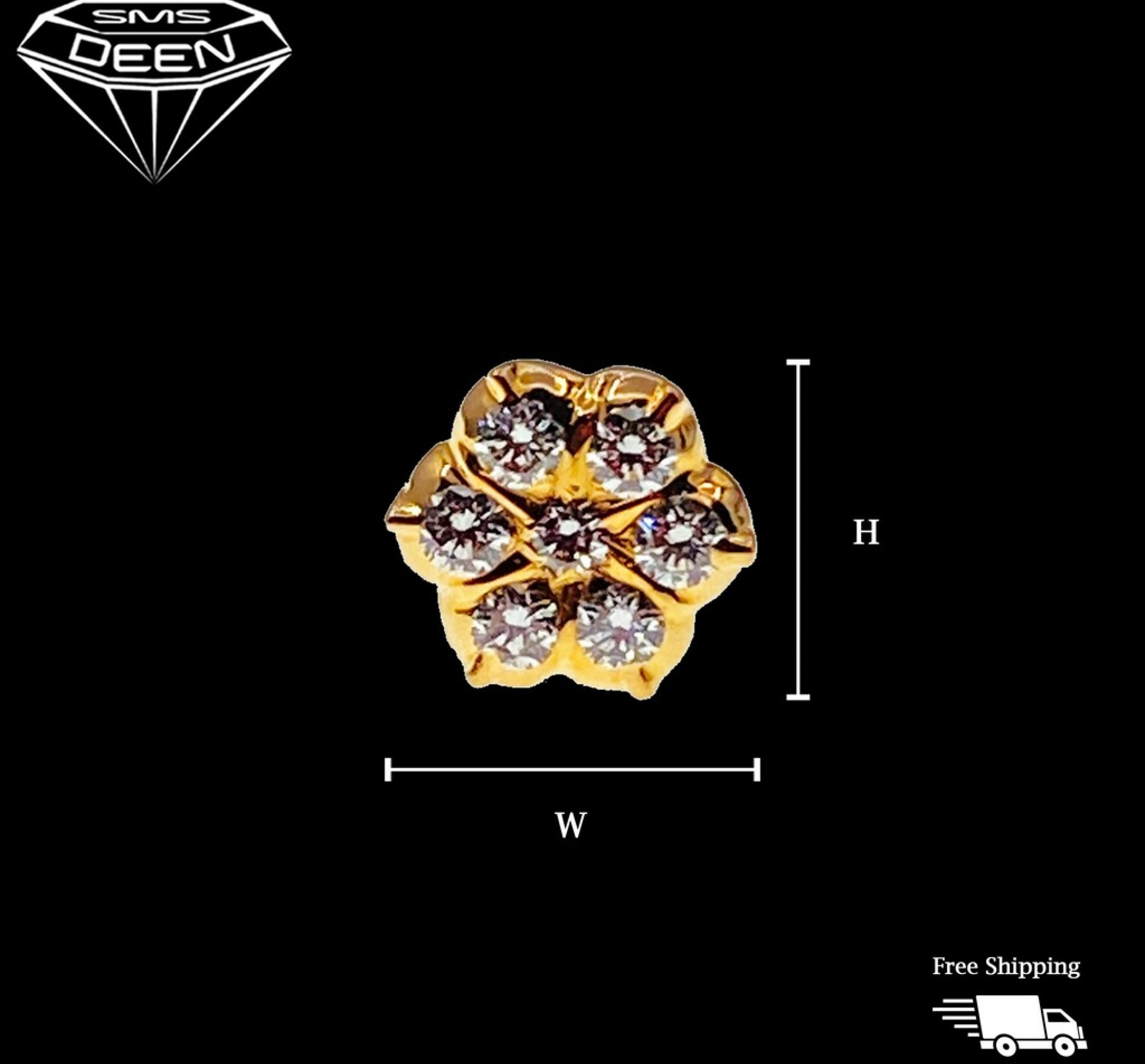 DIAMOND NOSEPIN    0.13CTS  With Certificate  [Wt:0.81 - PGD00064]